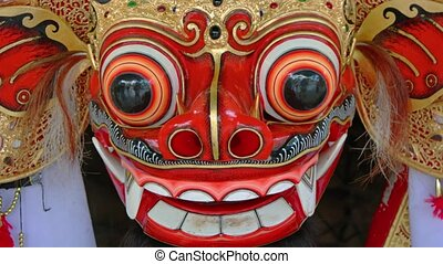 Closeup of Balinese Barong Mask, Part of Cultural Dance...