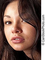 closeup of beautiful face ll