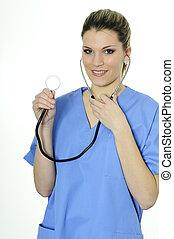 Closeup of beautiful nurse