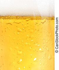 Closeup of beer