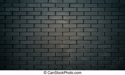 Closeup of black brick wall texture