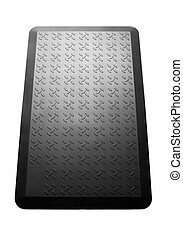 Closeup of black mat. High resolution photo.
