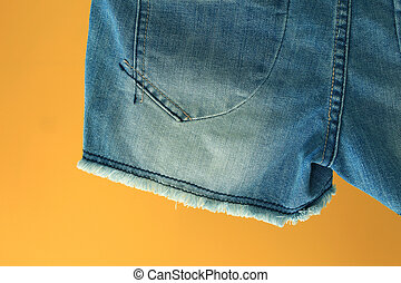 Closeup of blue jeans