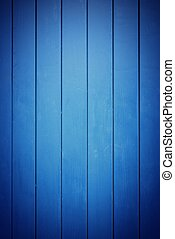 Closeup of blue wood planks texture background