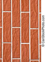 Closeup of brick wall as background