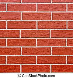 Closeup of brick wall as texture