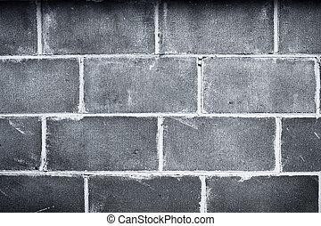 Closeup of bricks in dark wall
