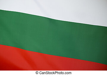 Closeup of Bulgaria flag