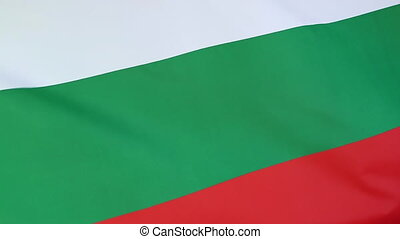 Closeup of Bulgaria flag moving in the wind
