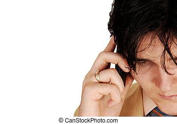 Closeup of businessman.