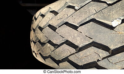 closeup of car tires texture background.