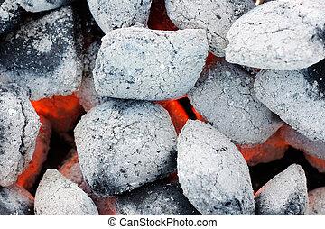 Closeup of charcoal - Charcoal