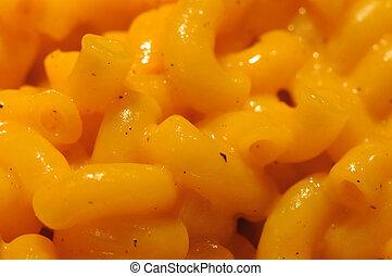 cheese and macaroni - closeup of cheese and macaroni