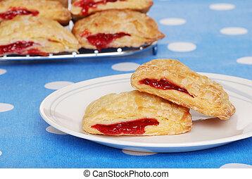cherry danish on a plate