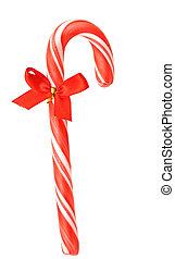 Closeup of christmas candy canes.