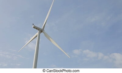Closeup of Clean and Renewable Energy, Wind Power