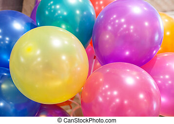 closeup of Colorful air balloons