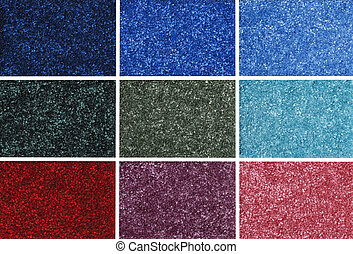 colorful carpet samples - closeup of colorful carpet samples