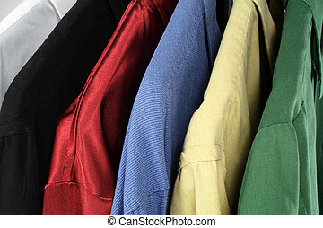 Closeup of colorful clothes