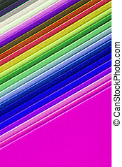 closeup of colorful paper