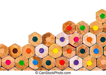 Closeup of Coloured Pencils background