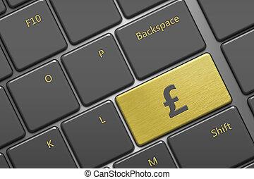 computer keyboard with british pound button