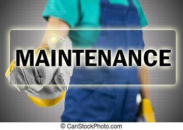 Maintenance - Closeup of construction worker choosing...