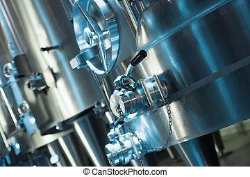Closeup of contemporary winery