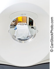 Closeup Of CT Scan Machine