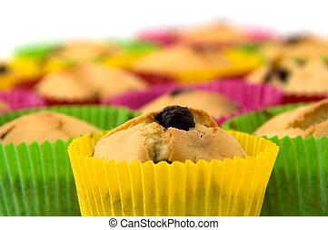 Closeup of cupcakes