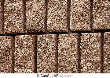 Closeup of Cut Block Wall