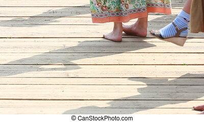 closeup of dancing feet