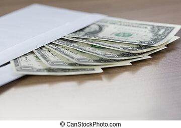 Dollar Notes in an envelope