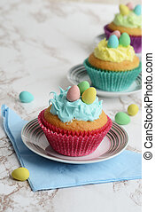 easter cupcakes with mini eggs