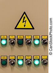 Closeup of electrical board