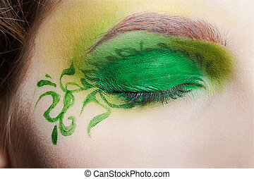 closeup of eyezone bodyart - closeup of girl\'s eyezone...
