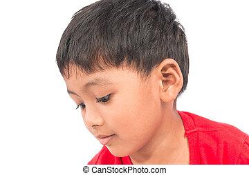 closeup of face asian little boy