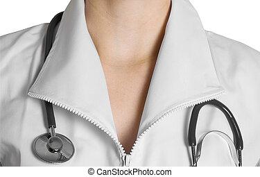 Closeup of female doctor