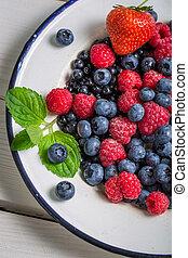 Closeup of fresh berry