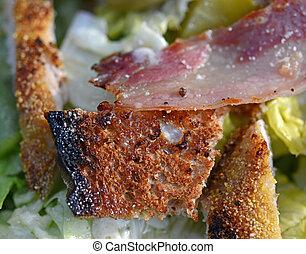 Closeup of fresh Ceaser salad