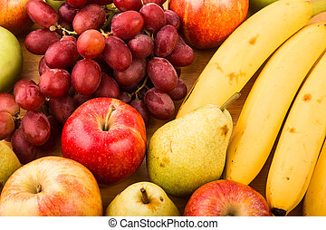 Closeup of Fresh Fruit