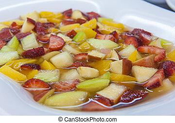 Closeup of fresh fruit salad