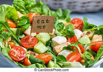 Closeup of fresh healthy salad