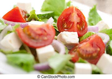 closeup of fresh salad