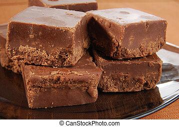 Closeup of fudge