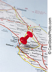 Gallipoli Italy On A Map