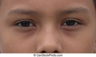Closeup of Girl's Eyes