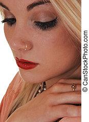 Closeup of girls face.