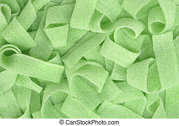 closeup of green licorice candy