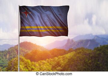 flag of Aruba.